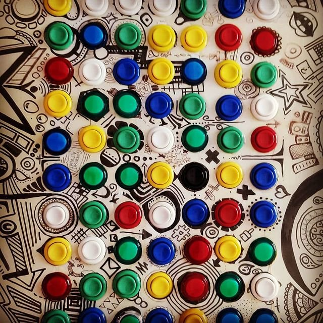 This 100-button controller is part of a project called Centenntable by Amanda Hudgins