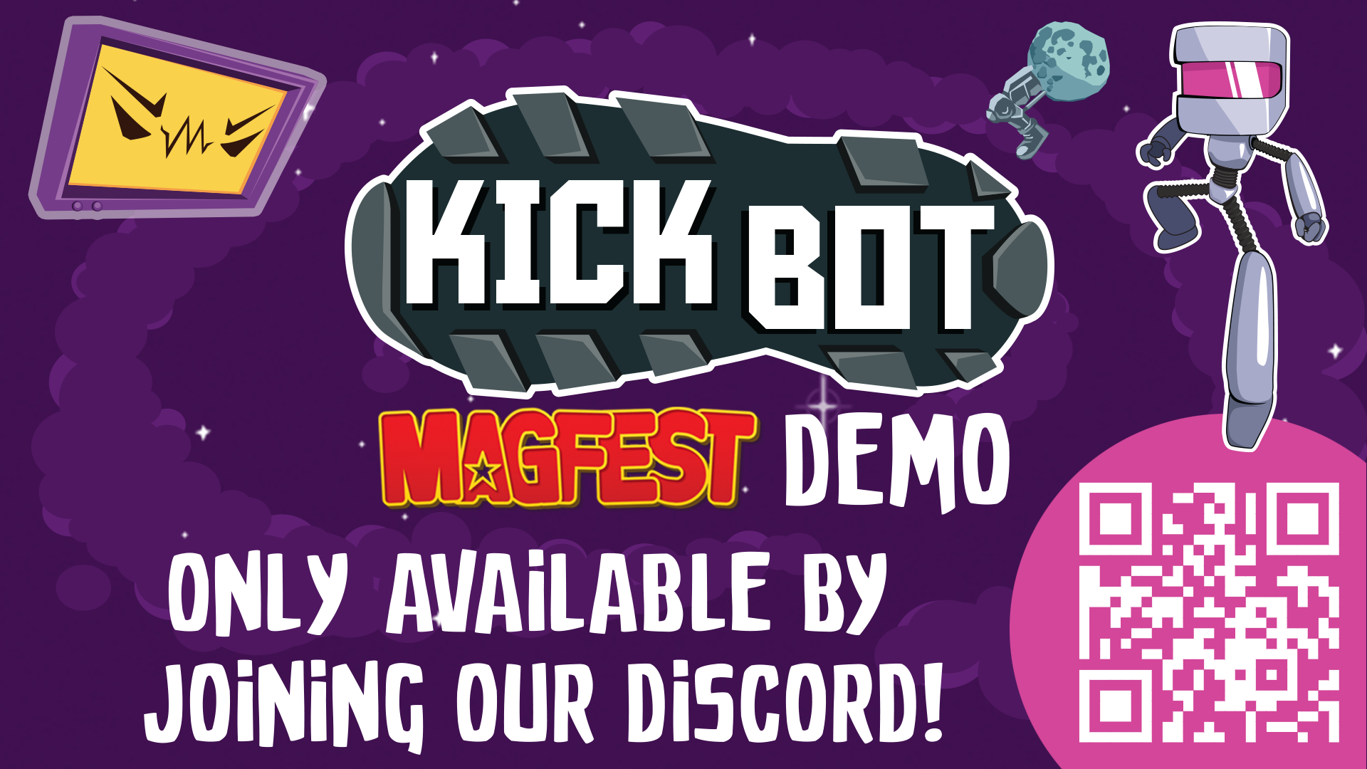 Join the two Scoop Games Discord and play the free Kick Bot demo!